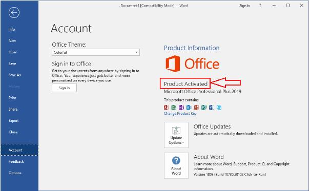 Hướng Dẫn Kích Hoạt Bản Quyền Office 2019 Pro BằngActivate AIO Tools