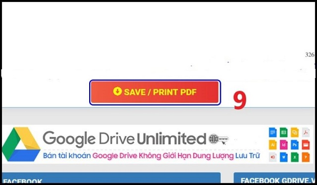 Dùng PDF.GDrive.VIP để tải file từ Google Drive bị cấm bước 4