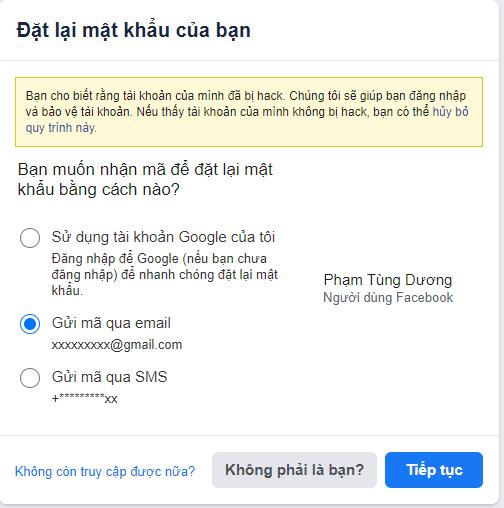 bị hack facebook 2021
