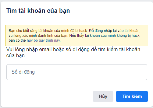 bị hack facebook email