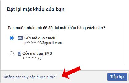 cách lấy lại mật khẩu facebook 5P