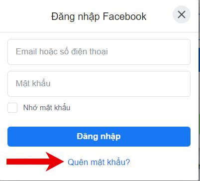cách lấy lại mật khẩu facebook nhanh