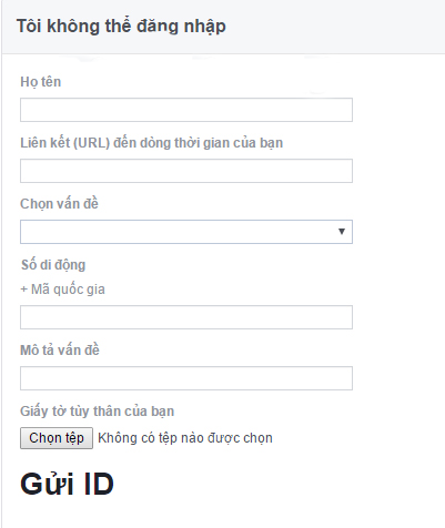 from lấy lại facebook