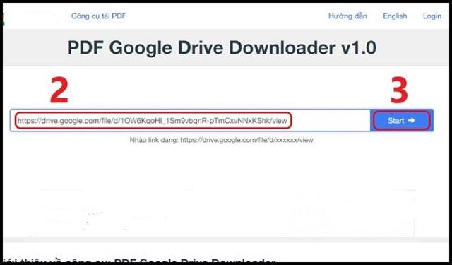 Dùng https://urlgd.com/vi/download-pdf để tải file từ Google Drive bị cấm bước 2
