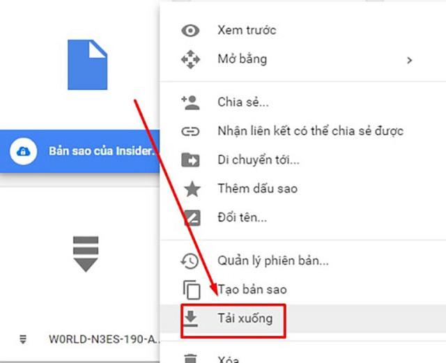 Tạo bản Copy để tải file từ Google Drive bị cấm bước 5